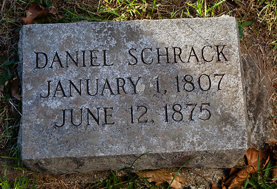 Daniel Schrack, January 1, 1807 to June 12, 1875