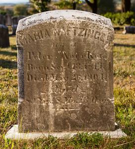 Maria Naftzinger, wife of Peter Noecker, 13 Sep 1814, 26 May 1904