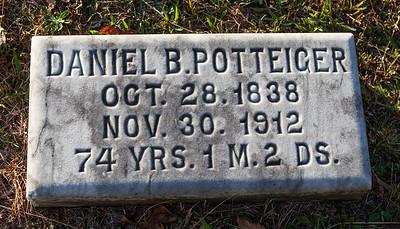 Daniel B. Potteiger, Oct 28, 1838, Nov 30, 1912...