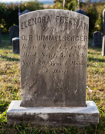 Elenora Freeman, wife of D. R. Himmelberger, born May 12, 1863, died Sept 5, 1883...