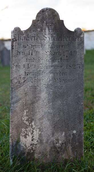 Elizabeth(?) Himmelberger ... 11 March 1749 ... 14 January 1823...