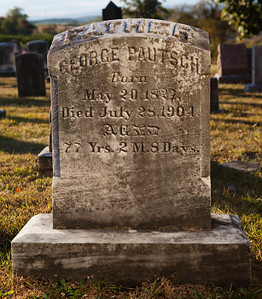 George Pautsch, b. May 20 1827, d. July 28 1904 ...