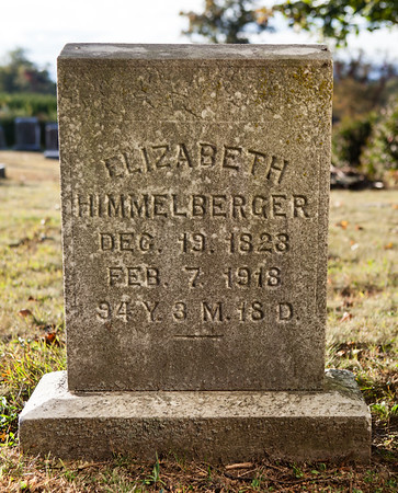 Elizabeth Himmelberger, Dec 19, 1823, Feb 7, 1918...