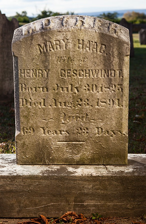 Mary Haag, wife of Henry Geschwindt, 1825, 1891