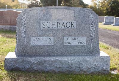 Samuel S. Schrack 1888 - 1946, Clara P. Schrack 1896 - 1965