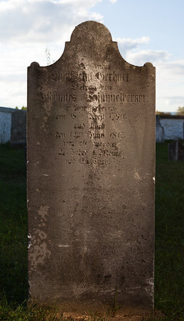 Elizabeth Gerhart ... wife of Johannes Himmelberger. born 18 April 1790, died 12 January 1817...