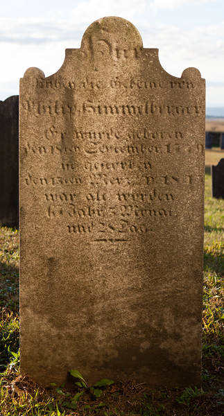 Philip Himmelberger ... born 18 September 1779, died 15 March 1847...