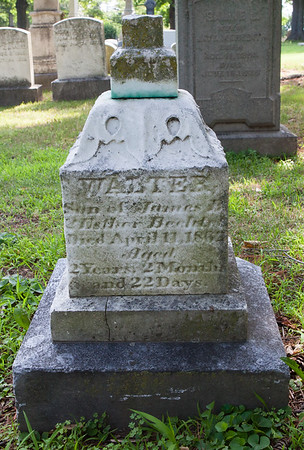 Walter, son of James & Esther Bechtel, died April 11, 1862, aged 2 y, 2 m and 22 d.  With Bechtel monument.