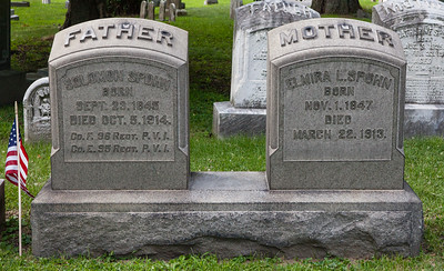 Father: Solomon Spohn, Sept 23, 1845 - Oct 5, 1914.  Mother: Elmira L. Spohn, Nov 1, 1847 - March 22, 1913.