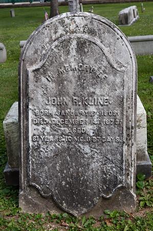 John R. Kline, Jan 17, 1809 - Dec. 14, 1870.