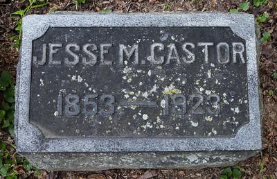 Jesse M. Castor, 1853 - 1923.  Stone next to Hannah L. Castor, 1856 - 1932.