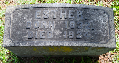 Esther, 1832 - 1924.  With Bechtel monument.