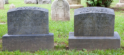 Father: Jacob K. Stoud, March 20, 1827 - May 7, 1897.  Mother: Sarah Stoud, July 16, 1830 - July 4, 1903.