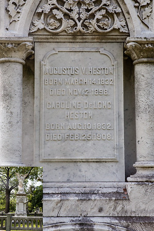 Augustus V. Heston, March 14, 1832 - Nov 2, 1898.  Caroline (DeLong) Heston, Aug 10, 1832 - Feb 25, 1908.