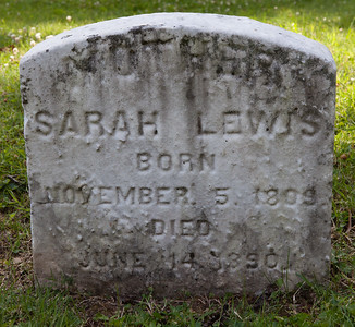 Sarah Lewis, Nov 5, 1809 - June 14, 1890.