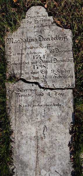 Magdalina Dreibelbis, December 23, 1774, Daniel Dreibelbis, 1798, Feb 26, 1829,