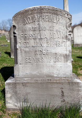 Adam Heinly, Jan 1835 - Jan 21 1917. Son of George Heinly and Mary Magdalena Dunkel.  Wife: Priscilla (Adam) Heinly, Dec 28, 1862 - Jan 8, 1926. Dauther of Benjamin Gardner Adam and Catherine M. Mengel.  Priscilla and Adam's son is George A. Heinly.
