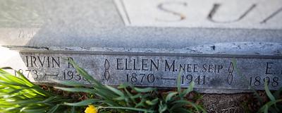 Husband: Irvin Rahn Sunday, June 12, 1873 - Jan 27, 1938. Son of Joel D. Sunday and Mary Ellen Rahn.  Wife: Ellen Missouri Seip, Oct 23, 1870 - Feb 7, 1941. Daughter of John Brobst Seip and Maria Magdalena Riegelman.  Parents of: Katie, Stella, Minnie Beulah, Mary Ellen, Elda and Mabel M. Sunday.