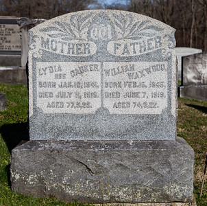 Mother: Lydia (Dauker) Waxwood, Jan 16, 1841 - Jul 11, 1918.  Father: William Waxwood, Feb 15, 1845 - Jun 7, 1919.