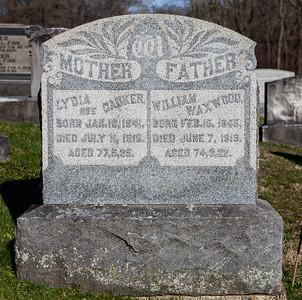 Mother: Lydia (Dauker) Waxwood, Jan 16, 1841 - Jul 11, 1918.  Father: William Waxwood, Feb 15, 1845 - Jun 7, 1919.