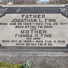 Father: Jonathan L. Fink, June 26, 1849 - Feb 20, 1917, (some sources say born July 29). Son of Abrahma Fink and Mary Lesher.<br /> <br /> Mother: Fianna (Adam) Fink, Oct 18, 1849 - Feb 3, 1916, (some sources say born Oct 10). Daughter of George William Adam and Elisabeth Gruber.<br /> <br /> Their children are: Richard A., Mary Elizabeth, Geore Edgar, Cora R., and Jennie A. Fink.