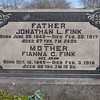 Father: Jonathan L. Fink, Jul 29, 1849 - Feb 20, 1917. Son of Abraham Fink and Mary Lesher.<br /> <br /> Mother: Fianna Adam, Oct 10, 1949 - Feb 3, 1916. Daughter of George William Adam and Elisabeth Gruber.<br /> <br /> Parents of Richard A., Mary Elizabeth, George Edgar, Cora R., and Jennie A. Fink.