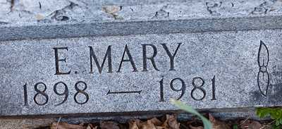 E. Mary Sunday (Mary Ellen), March 5, 1898 - Jan. 1981. Daughter of Irvin Rahn Sunday and Ellen Missouri Seip.