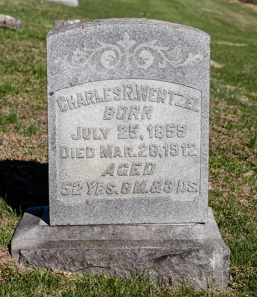 Charles R. Wentzel, July 25, 1859 - Mar 28, 1912.