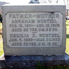 Abraham Wentzel, Feb 10, 1851 - Aug 15, 1919.<br /> Cecilia E. Wentzel, Jan 5, 1850 - Mar. 24, 1920.