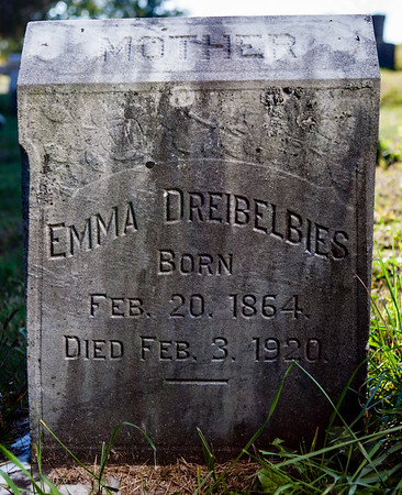 Emma Dreibelbies, Born Feb 20, 1864, Died Feb 3, 1920