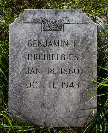 Benjamin F. Dreibelbies, Jan 18, 1860, Oct 11, 1943