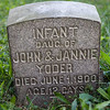 infant daughter of John & Jannie Yoder, died June 1, 1900, age 12 days.