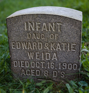 infant daughter of Edward & Katie Weida, died Oct 16, 1900, age 8 days