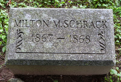 Milton Montgomery Schrack, 24 Jan 1862 - 8 Aug 1868,  son of Davilla and Malinda (Hiester) Schrack.