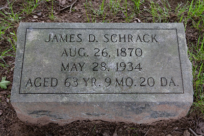James D. Schrack, 26 Aug 1870 - May 28, 1934, son of Davilla and Malinda (Hiester) Schrack.