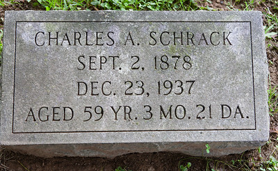 Charles A. Schrack, 2 Sep 1878 - 23 Dec 1937, son of Davilla and Malinda (Hiester) Schrack.