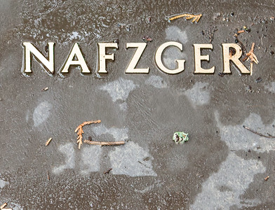 Matheis Nafzger memorial plaque.