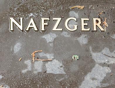 Matheis Nafzger memorial plaque.