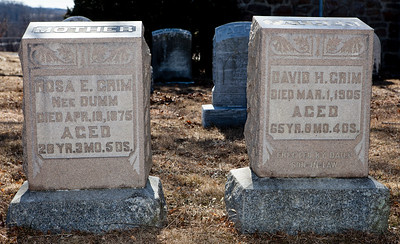 Mother: Rosa E. (Dumm) Grim, died Apr 18, 1875.  David H. Grim, died Mar 1, 1905.