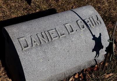 Daniel D.  Grim, buried New Bethel Zion Cemetery, Grimsville, PA.