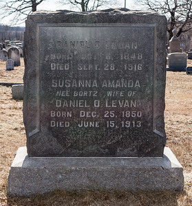 Husband: Daniel O. Levan, Oct 6, 1848 - Sept 23, 1916.  Susanna Amanda (Bortz) Levan, Dec 25, 1850 - Jun 15, 1913.