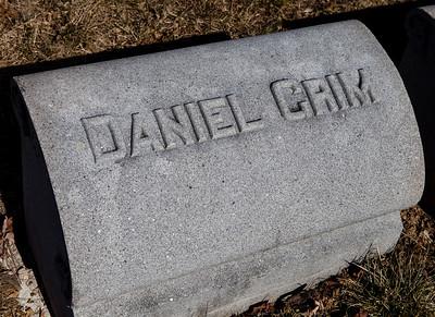 Daniel  Grim, buried New Bethel Zion Cemetery, Grimsville, PA.