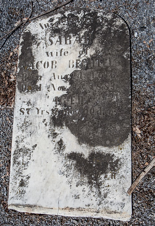 Sarah, wife of Jacob Bechtel, Aug. 24, 1796 - Nov __, 1883 ...