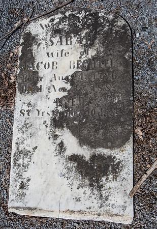 Sarah, wife of Jacob Bechtel, Aug. 24, 1796 - Nov __, 1883 ...