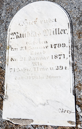 Mathias Miller, ...  Jan. 23, 1799 - Jan. 21, 1871 ...