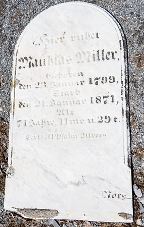 Mathias Miller, ...  Jan. 23, 1799 - Jan. 21, 1871 ...