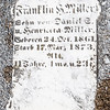 Franklin Miller ... sone of Daniel E. and Henrietta Miller. Dec 24, 1861 - May 17, 1873...