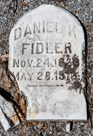 Daniel K. Fidler, Nov 24, 18__ to May 28, 19__.