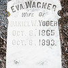 Eva Wagner, wife of Daniel W. Yoder, Oct 8, 1865 - Oct 8, 1893