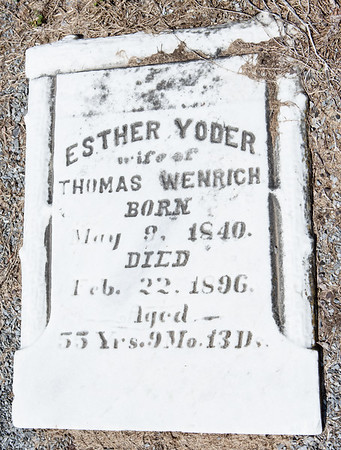 Esther Yoder, wife of Thomas Wenrich, May 9, 1840 - Feb 22, 1896 ...